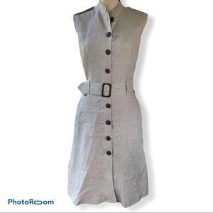 Aquascutum | Beige Linen Safari Dress